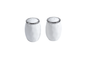 "Pampa Bay <a href=""https://lifestylesgiftware.com/product/pampa-bay-white-salerno-salt-and-pepper-shakers/"">White Salerno Salt and Pepper Shakers</a>"