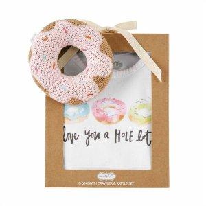 Mud Pie Donut Rattle Crawler Set