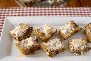 Paleo Coconut Pumpkin Breakfast Bars