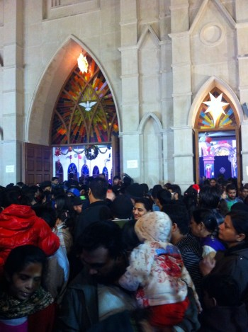 Delhites visiting Church on Christmas Day