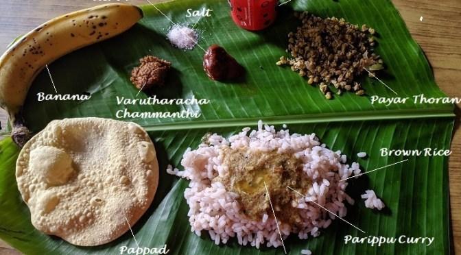 'Ullathu kondu onam pole' (celebrating Onam with whatever available)
