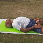 WALKING IN THE PARK AND YOGA