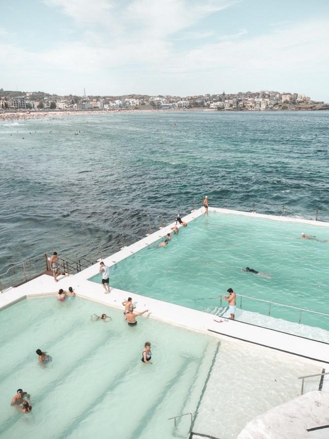 bondi beach view and iceberg pools