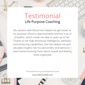 testimonial purpose coaching