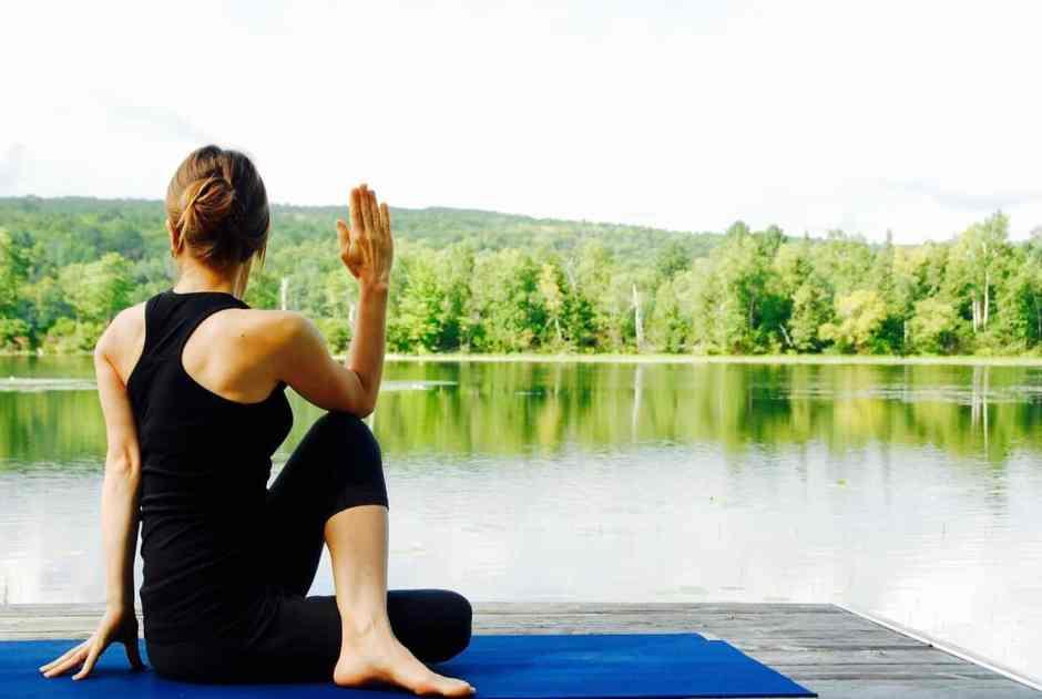 woman in yoga pose