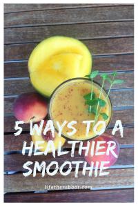 healthier smoothies