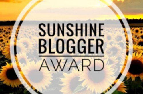 sunshine blooger award