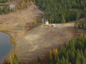 Arial view of the Castle