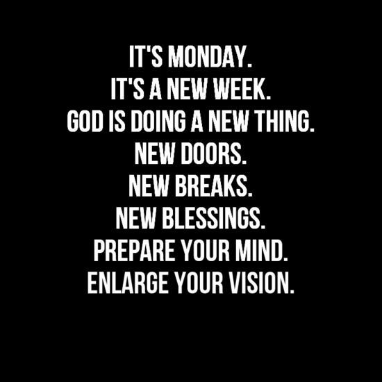 new monday new week