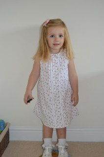 P in her Mothercare Dress