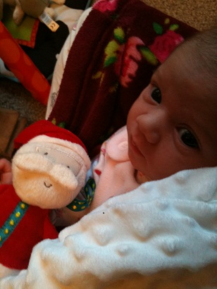 P with her Father Christmas