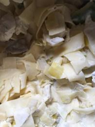 Chicken Avocado egg fettuccine new Latina fresh product