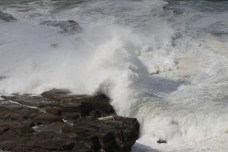Waves crashing on the rocks (the reason we stopped!)