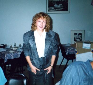 1989 18th birthday permed hair!