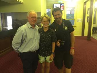 Representing SES at the Premiers Club meeting Jim Maxwell the voice of cricket