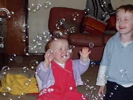 Charli & Zac and bubbles