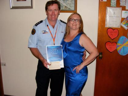Drew received an award from Wollongong Council recognising his service