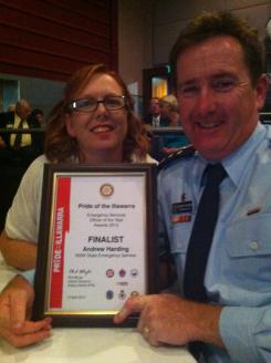 At the Pride of Illawarra Awards 2012 where Drew was a Finalist