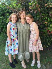 The girls graduating primary school