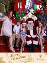 My crazy family Santa photo.