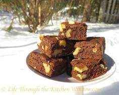 Nut-Topped Cocoa Brownies │ © Life Through the Kitchen Window.com