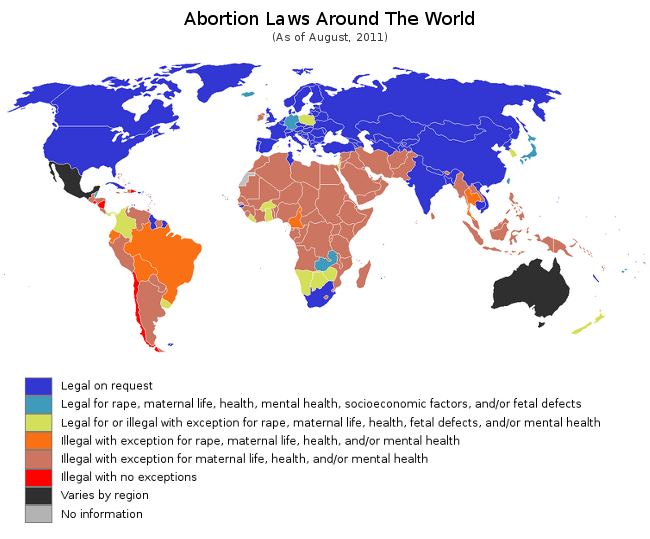 Abortion is allowed in some part of the world