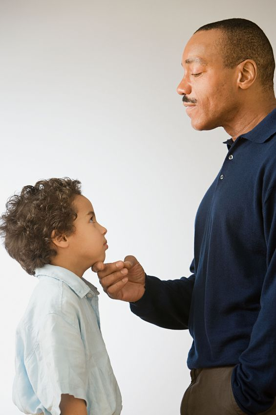 corporal punishment should not be an option for child discipline  the father gently teaching his child how to respect