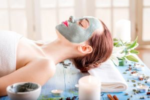 facial mask in the spa