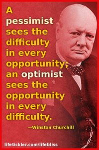 A pessimist by Winston Churchill