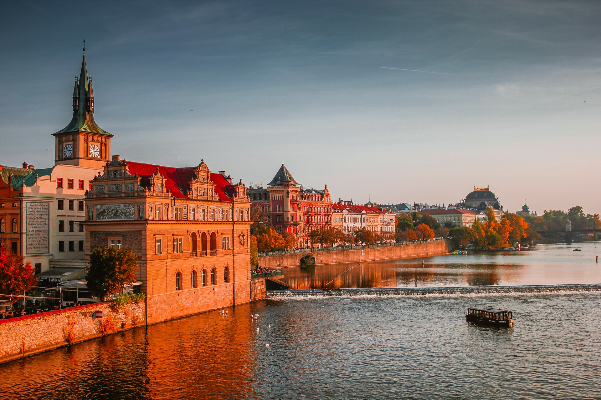 Charles Bridge River Vlatva - perfect place to visit on a prague city break