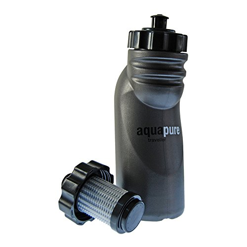 travel water purifier bottle aquapure for backpacking