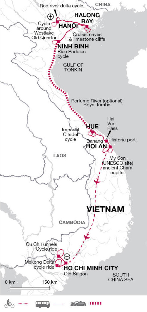 Cycle Tour Vietnam Hanoi to Hue & Ho Chi Minh City