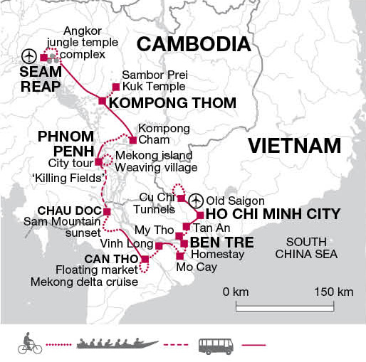 mekong delta vietnam and angkor cambodia bicycle tour