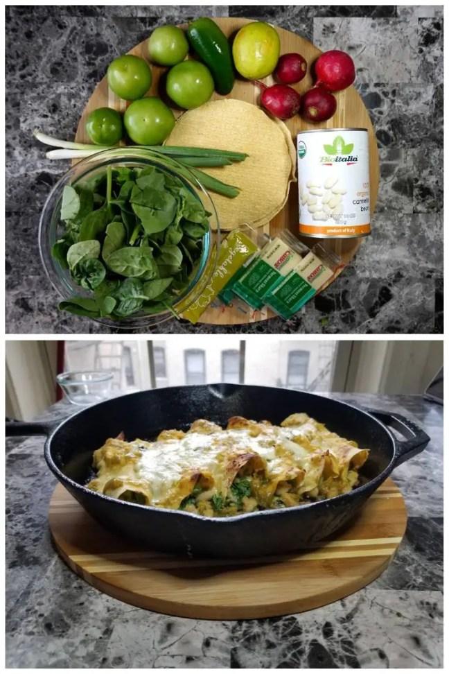 Salsa Verde Veggie Enchiladas