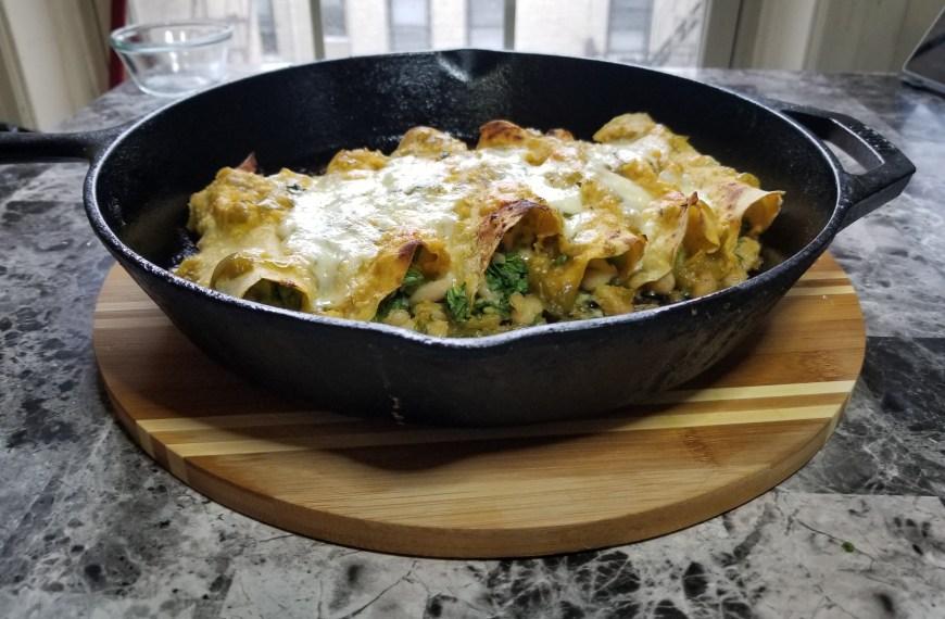 Salsa Verde Veggie Enchiladas recipe