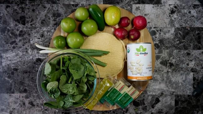 Salsa Verde Veggie Enchiladas recipe ingredients