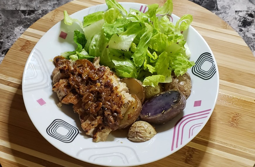 Juicy Pork Chops with Baby Potatoes