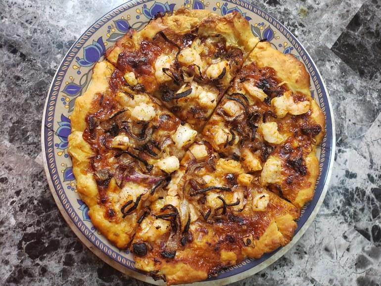 BBQ Shrimp Pizza