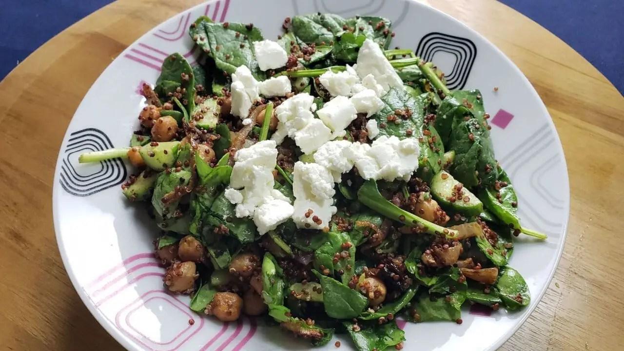 Crispy Chickpeas Quinoa Salad and wine pairing