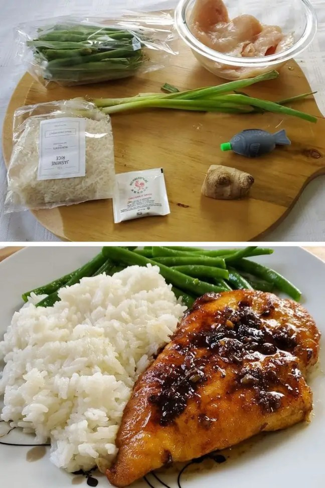 Garlic-Tamari Chicken with Sautéed Green Beans