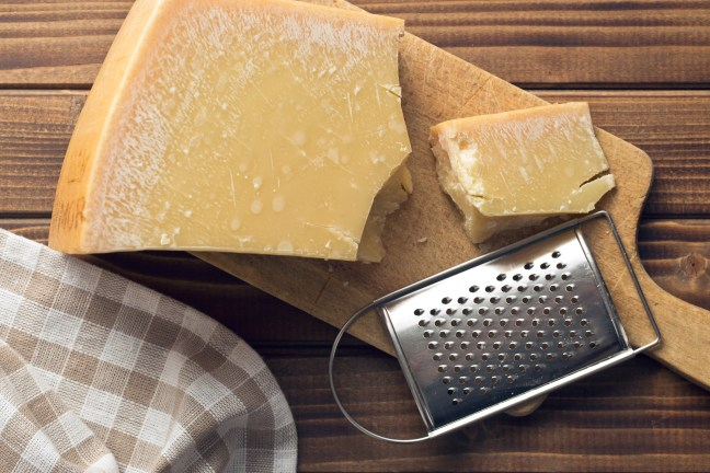 cheese grater and parmesan