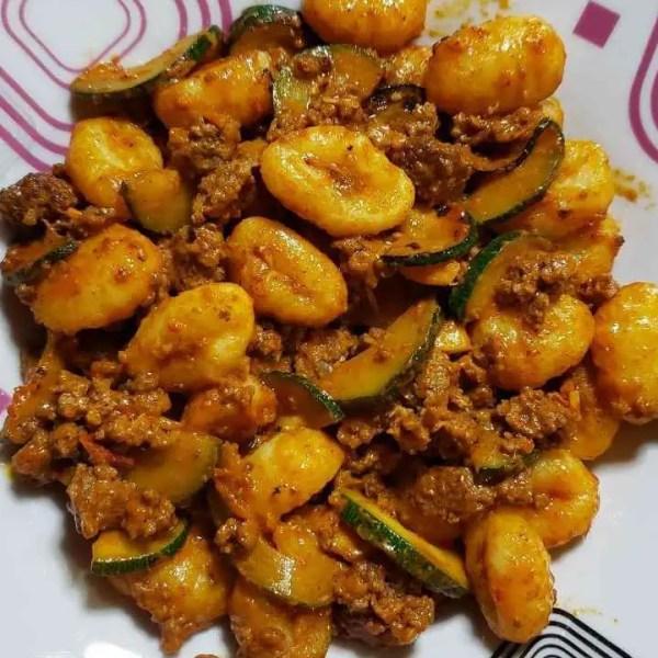 Beef & Zucchini Gnocchi Recipe