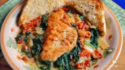 Creamy Tuscan Chicken with Sundried Tomatoes