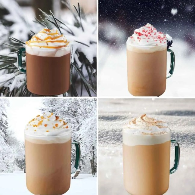 winter Starbucks drinks