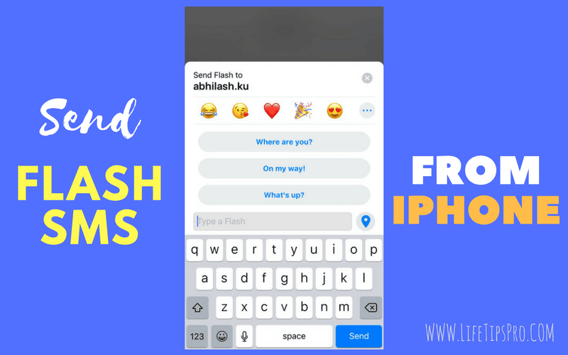 steps to send a flash sms from iphone and android through true caller