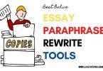 Essay paraphrase rewrite tools online