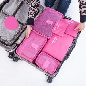 JULY'S SONG 6PCs/Set Travel Bags Luggage Zipper Bag Portable Packing Organizer Waterproof Case Bag Dropshiping