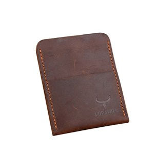 COWATHER high grade Crazy horse leather mens credit card holder for men
