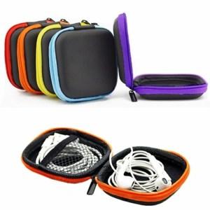 Fashion Mini Zipper Earphone Headphone SD Card Bag Storage Box Key Wallet Travel Accessories Packing Organizers