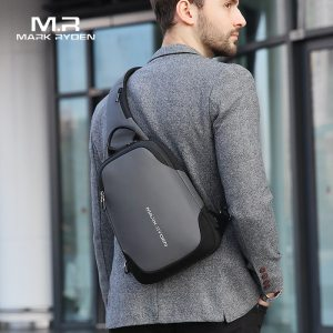 Mark Ryden New Anti thief Crossbody Bag Waterproof Men Sling Chest Bag Fit 9.7 inch Ipad Fashion Shoulder Bag